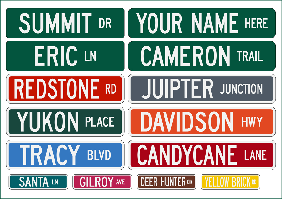 Personal street signs